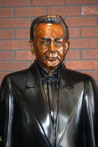 Paul Daffin statue - 3rd Generation owner and idea man behind the Chocolate Kingdom