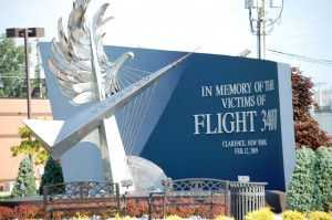 Memorial Statue in memory of the victims of Flight 3407 on Feb. 12, 2009.  This is located in Patriots and Heroes Park in Williamsville, NY
