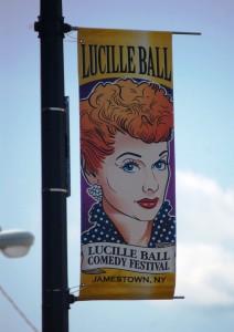 Jamestown Banner advertising Lucille Ball Festival