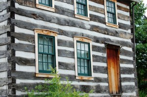 Old Log House in Historic Harmony, Pennsylvania