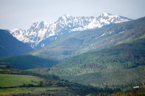 View of the Rocky Mountains south of Edwards, Colorado