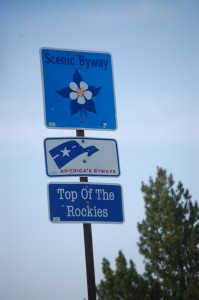 Scenic Drive Sign - Top of the Rockies Scenic Drive
