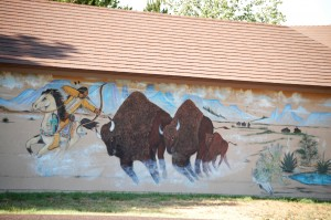 Buffalo Mural in Four Way, Texas
