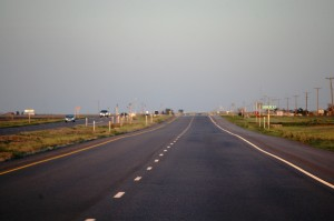 US 287 heading south towards Childress, Texas