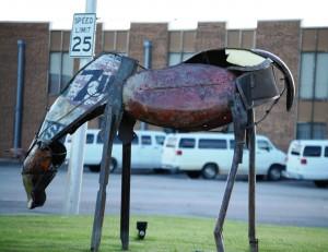 Scrap metal horse - Durant, Oklahoma