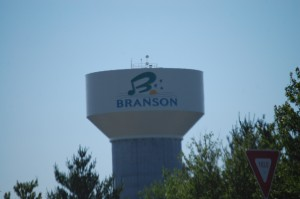 Branson, Missouri water tower