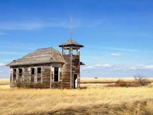 Old Schoolhouse near Havre, Montana