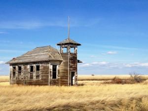 Old Schoolhouse near Havre, Montana
