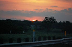 Sunrise over Keller, Texas