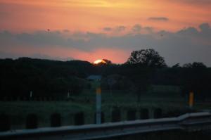 Sunrise over Keller, Texas