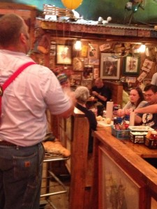 Throwing Roll's at Lamberts - this guy chucked them clear across the room