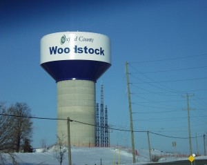 Woodstock, Ontario water tower