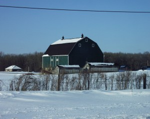 Winter scene in rural Oxford County, Ontario