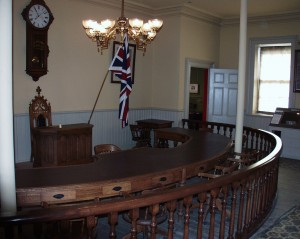1879 Council Chambers in old Town Hall (Woodstock Museum) - Woodstock, Ontario