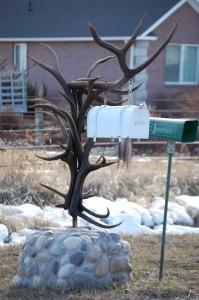 Antler Mailbox - Thornton, Idaho