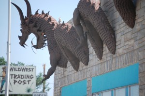 Metal Dragon on a Building - Clayton, New Mexico