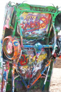 Bottom of Cadillac at Cadillac Ranch in Amarillo