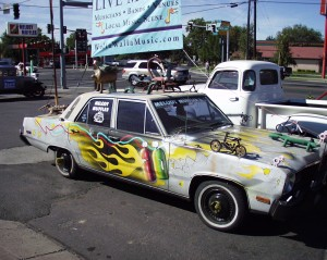 Art Car at Melody Muffler in Walla Walla, Washington