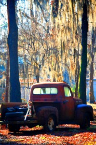 Swamp Thing Chevy pickup in Uncertain, Texas