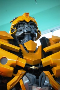 "Transformer ""Bumblebee"" movie prop at Children's Museum"