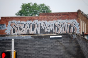 Colorful Building Graffiti in Indianapolis