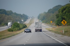 Traveling I-74 west towards Danville, IL from Indy