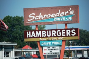 Old Drive-In Burger place in Danville...60's neon.