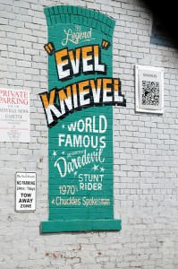 Evel Knievel Wall Mural in Danville