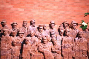 Danville USA Brick Sculpture by Donna Dobberfuhl