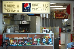 Old style counter and lots of M & M stuff