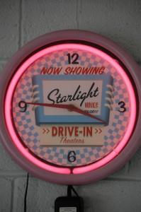 Starlight Drive-in Clock in Twistee Treat