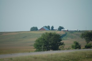 Rural Scene in eastern Iowa as seen from I-74