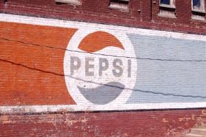 Old Pepsi Wall Advertisement - Eldon, IA