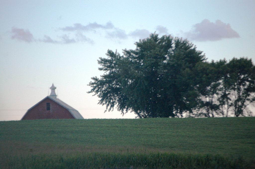 A pastoral setting just east of Council Bluffs as seen from I-80