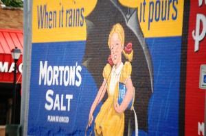 Morton's Salt Wall Advertisement - Nebraska City, Nebraska