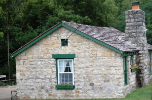 An Old Rock House adorns a corner in Nebraska City