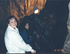 Amaree and Marissa in Mammoth Cave, Oct. 1994