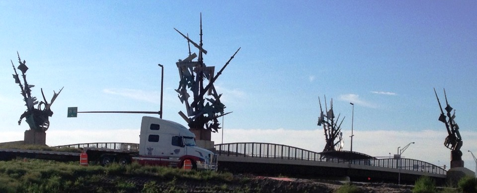 Odyssey by Albert Paley on 24th Street Bridge in Council Bluffs, IA