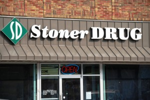 Stoner Drug - Hamburg, Iowa - what a name for a drug store