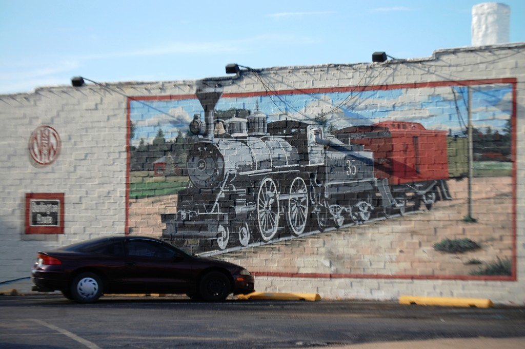 Railroad Boom mural in Chillicothe