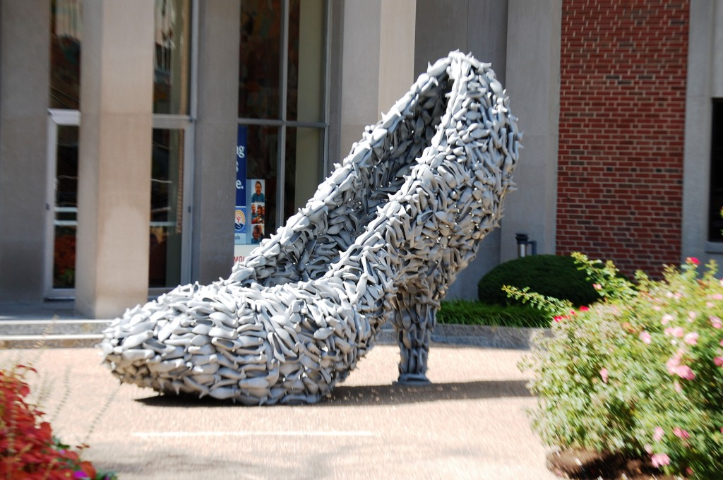 Giant Shoe at Brown Shoe Company in St. Louis