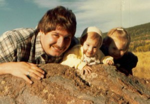 Sumoflam & girls near San Francisco Peaks October 1981