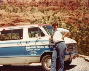Sumoflam and the old Nava-Hopi Tours #90 van.  I put on 1000s of miles onto this baby!