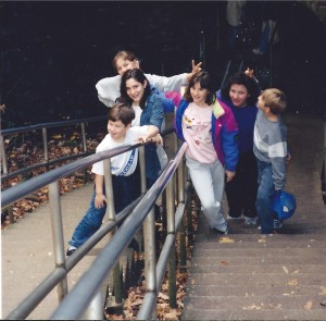 Family at the entrance to Mammoth Cave, October 1994