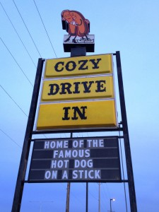 Cozy Drive-In - Springfield, Illinois  The sign says it all