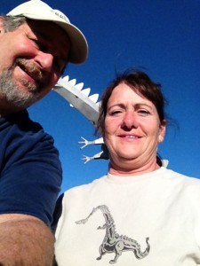 Sumoflam and Paula Barenfanger, owner of the Kaskaskia Dragon and Kaskaskia Supply