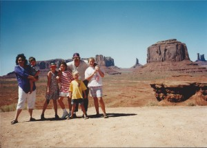 Family at Monument Valley, Utah July 1993