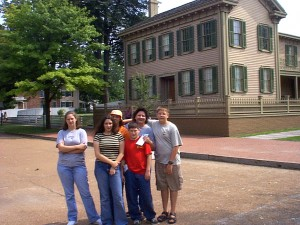Family at the Lincoln Home in Springfield, Illinois, Summer 2001