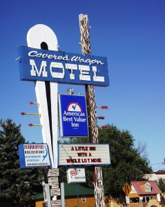Covered Wagon Motel in Lusk, Wyoming