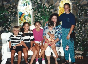 Family at Precious Moments Chapel in Carthage, Missouri July 1993